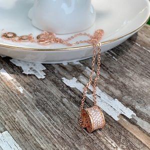 Fashion Rose Gold Tone Necklace